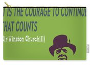 Winston Churchill Motivation Quote Carry-all Pouch