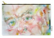 Winston Churchill - Watercolor Portrait.4 Carry-all Pouch
