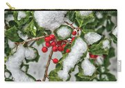 Winter - Ice Coated Holly Carry-all Pouch