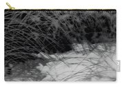 Winter Abstract Black And White Carry-all Pouch