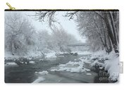 Winter Along Clear Creek Carry-all Pouch