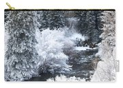 Winter Along The Creek Carry-all Pouch