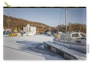 Winter At Bowling Harbour Carry-all Pouch