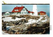 Winter At Portland Head Carry-all Pouch