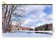 Winter At The Dam Carry-all Pouch