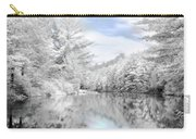Winter At The Reservoir Carry-all Pouch by Lori Deiter