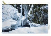 Winter At Virgin Creek Falls Carry-all Pouch
