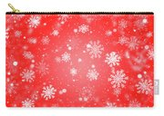 Winter Background With Snowflakes. Carry-all Pouch