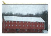Winter Barn In Oil Carry-all Pouch