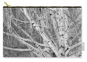 Icy Winter Birch Tree  Carry-all Pouch