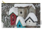 Winter Birdhouses Carry-all Pouch