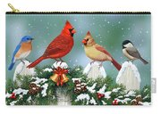 Winter Birds And Christmas Garland Carry-all Pouch