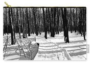 Winter Boardwalk In Black And White Carry-all Pouch