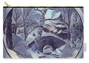 Winter Bridge In Blue Carry-all Pouch
