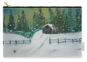 Winter Cabin Carry-all Pouch by Jimmy Clark
