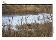 Winter Cattails  Carry-all Pouch