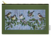 Winter Chickadees Carry-all Pouch