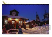 Winter Christmas Evening Lights Carry-all Pouch