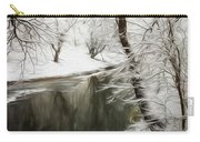Winter Contemplation Watercolor Painting Carry-all Pouch