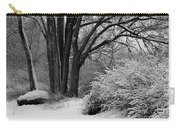 Winter Day - Black And White Carry-all Pouch