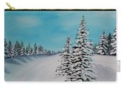 Winter Day Duvet Digital Painting Carry-all Pouch