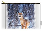 Winter Deer 1 Carry-all Pouch