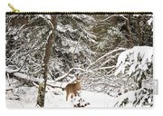 Winter Doe In The Upper Peninsula Carry-all Pouch