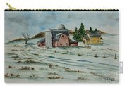 Winter Down On The Farm Carry-all Pouch by Charlotte Blanchard