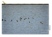 Winter Ducks Swimming Away  Carry-all Pouch