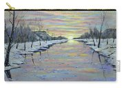 Winter Expression Sunrise Carry-all Pouch