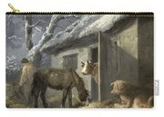 Winter Farmyard Carry-all Pouch