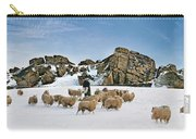 Winter Feed Almscliff Crag. Carry-all Pouch