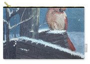 Winter Female Cardinal Carry-all Pouch