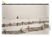Winter Fence In Oregon Carry-all Pouch