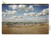 Winter Fences In Grand Haven 3.0 Carry-all Pouch by Michelle Calkins
