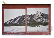Winter Flatirons Boulder Colorado Red Barn Picture Window Frame  Carry-all Pouch by James BO  Insogna