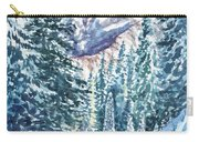 Winter Forest And Mountains Carry-all Pouch