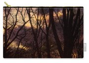 Winter Forest Sunrise Carry-all Pouch