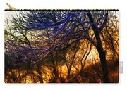 Winter Forest Sunset Oil Style Carry-all Pouch