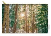 Winter Forest Sunshine Carry-all Pouch