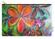 Winter Glow Flower Painting Carry-all Pouch