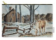 Winter Grazing  Carry-all Pouch by Charlotte Blanchard