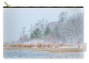 Winter Hoarfrost On The River Carry-all Pouch
