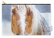 Winter Horse Portrait Carry-all Pouch