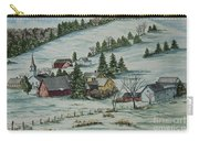Winter In East Chatham Vermont Carry-all Pouch