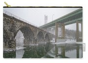 Winter In East Falls Along The Schuylkill River Carry-all Pouch