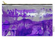 Winter In Purple And Silver Carry-all Pouch