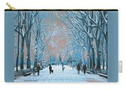 Winter In The City Park Carry-all Pouch