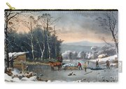 Winter In The Country Carry-all Pouch by Currier and Ives