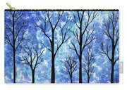 Winter In The Woods Abstract Carry-all Pouch
